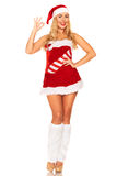 Fille de Santa Claus Photos libres de droits
