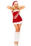 Fille de Santa Claus Image stock