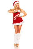 Fille de Santa Claus Photo stock