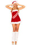 Fille de Santa Claus Photographie stock libre de droits
