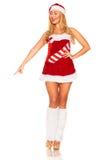 Fille de Santa Claus Image libre de droits