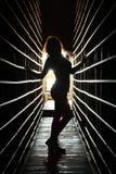 Fille de silhouette Images libres de droits