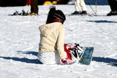 Fille de Snowboard Photographie stock
