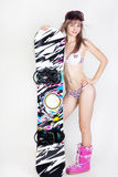 Fille de Snowboard Photo libre de droits