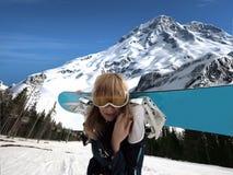 Fille de Snowboard photographie stock libre de droits