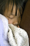 Fille de sommeil Photos stock