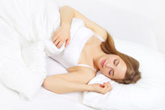 Fille de sommeil images libres de droits