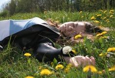 Fille de sommeil Photo libre de droits