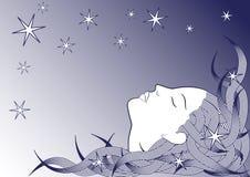 Fille de sommeil Image libre de droits