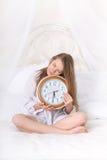 Fille de sommeil à 5h30 du matin Photographie stock