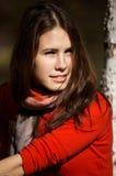 Fille de sourire de brunette Image stock