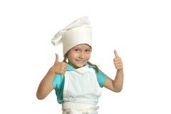 Fille de sourire de cuisine Photographie stock