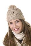 Fille de sourire en type de l'hiver Photo libre de droits