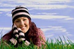 Fille de sourire heureuse image libre de droits