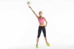 Fille de sport avec la boule Photos libres de droits