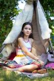 Fille de style de mode de Boho Photographie stock libre de droits