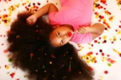 Fille de sucrerie Photographie stock
