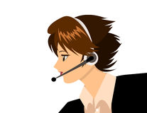 Fille de support de technologie Illustration Stock