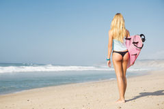 Fille de surfer de Blode Photo stock