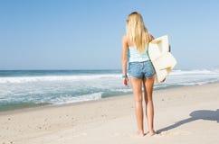 Fille de surfer de Blode Image libre de droits