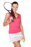 Fille de Tennid Images stock