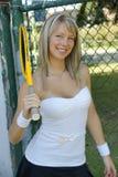 Fille de tennis Photographie stock
