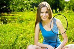 Fille de tennis Images libres de droits