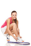 Fille de tennis Images stock