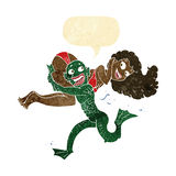 fille de transport de monstre de marais de bande dessinée dans le bikini avec la bulle de la parole Image libre de droits