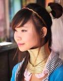 Fille de tribu de Padaung jeune Images stock