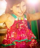 Fille de trois ans d'anniversaire Image libre de droits