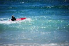Fille de vague déferlante Image stock