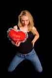 Fille de Valentine photo stock