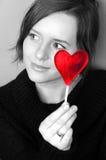 Fille de Valentine Images stock