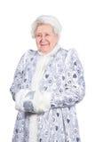 Fille de vieille Madame neige photo libre de droits