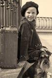 Fille de vintage dans la sépia Images stock