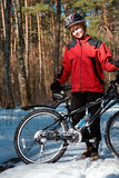 fille de vélo Photographie stock libre de droits