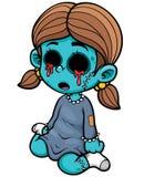 Fille de zombi Photo stock
