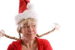 Fille drôle de Noël Photographie stock libre de droits