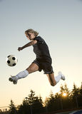 Fille du football Photos libres de droits