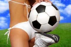 Fille du football Photos stock