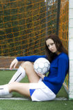 Fille du football Photo stock