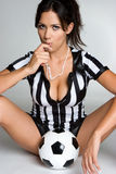 Fille du football Images libres de droits