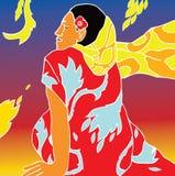 Fille du Tahiti. Image stock
