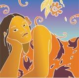 Fille du Tahiti. Photographie stock libre de droits