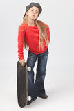 Fille dure de patineur photo libre de droits