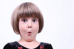 Fille effrayée Photographie stock libre de droits