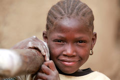 Fille en Afrique Photo stock