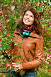 Fille en automne Photos stock