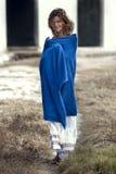Fille en essuie-main Photographie stock libre de droits